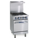 Imperial IR-4/N Natural Gas 4 Burners Open top Range Oven
