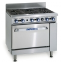 Imperial IR-6/P ( With Stub Back ) LPG Gas 6 Burners Open Top Range Oven