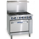 Imperial IR-6/P ( With Splash Back ) LPG Gas 6 Burners Open Top Range Oven