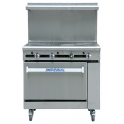 Imperial IR-3HT/N ( With Splash Back ) Natural Gas Solid Top Range Oven