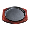 Round Cast Iron Sizzling Hot Plate Platter