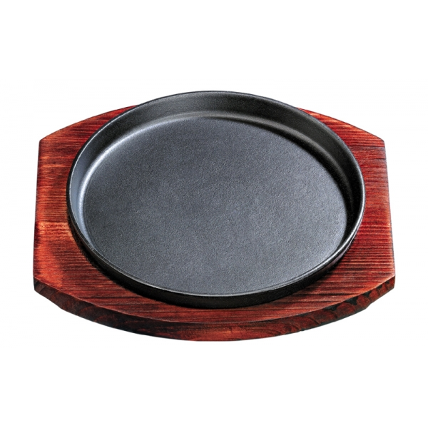 Cheap Round Shaped Cast Iron Sizzling Hot Plate Platter At