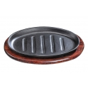 Oval Cast Iron Sizzling Hot Plate Platter - inverted Griddles