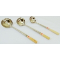 Stainless Steel Ladle with Short Wooden Handle