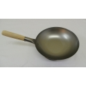"13"" Flat Bottom Carbon Steel Wok"