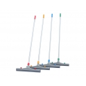 Grey Wear Resistant Rubber Floor Squeegee Complete with Aluminium Handle