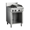 600mm Medium Duty Gas Cooktops Open Cabinet Base
