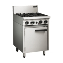 600mm Medium Duty 4 Burner Gas Static Oven