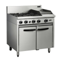 900mm Medium Duty 4 Burner 300mm Griddle Gas Static Oven