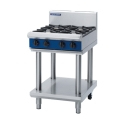 600mm Leg Stand 2 Burner Gas Cooktop with 300mm Griddle Plate