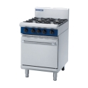 600mm 2 Burner Gas Range Static Oven with 300mm Griddle Plate