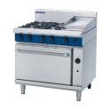 900mm 4 Burner Gas Range Static Oven with 300mm Griddle Plate