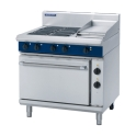 900mm 4 Element Electric Range Static Oven with 300mm Griddle Plate