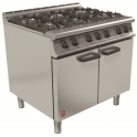 900mm 6 Burner Open Top Oven Range
