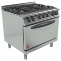 900mm 6 Burner Open Top Oven Range G3101