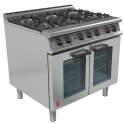 900mm 6 Burner Open Top Oven Range with Drop Down Door G3101D
