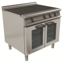 900mm 3 Hot Plate Open Top Oven Range with Drop Down Door E3101D 3HP