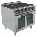 900mm 3 Hot Plate Fan Assisted Open Top Oven RangeE3101 OTC 3HP