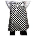 Black & White Chequered Cotton Waist Apron