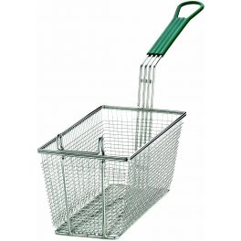 Fry Basket with Green Wire Handle 34cm x 16cm x 15cm