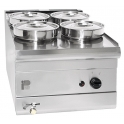 Parry 600Series PGWB4 Natural Gas 4 Pots Wet Well Bain Marie