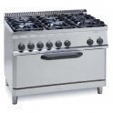Parry 700Series 630385P Heavy Duty Six Burners LPG Gas Range With Electric Oven